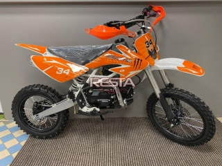 Dirtbike Thunder 125cc 17/14 4G - oranžový model 2021
